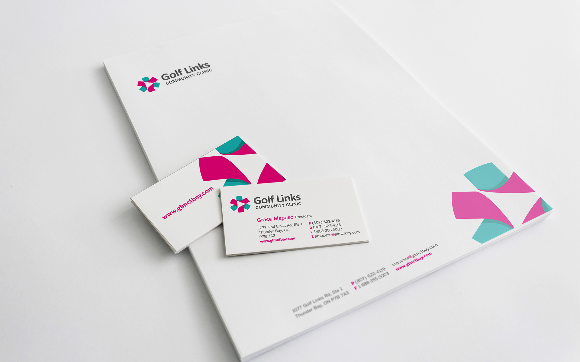 Golf Links Community Clinic Stationery