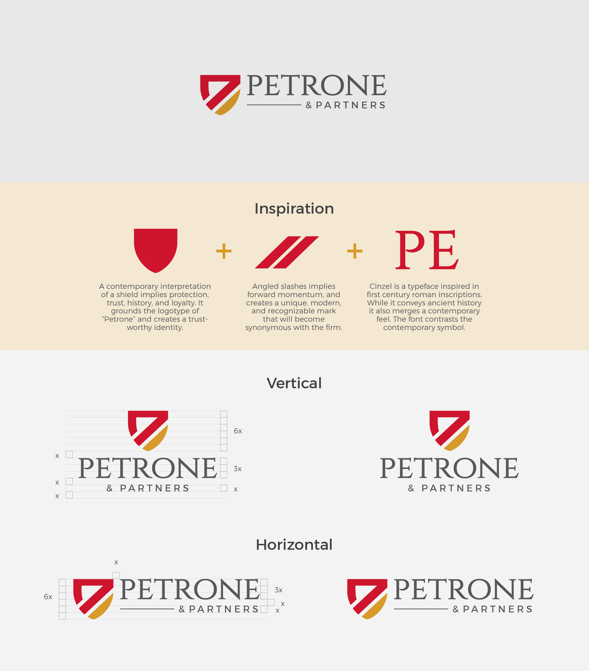 Petrone & Partners Logo Breakdown