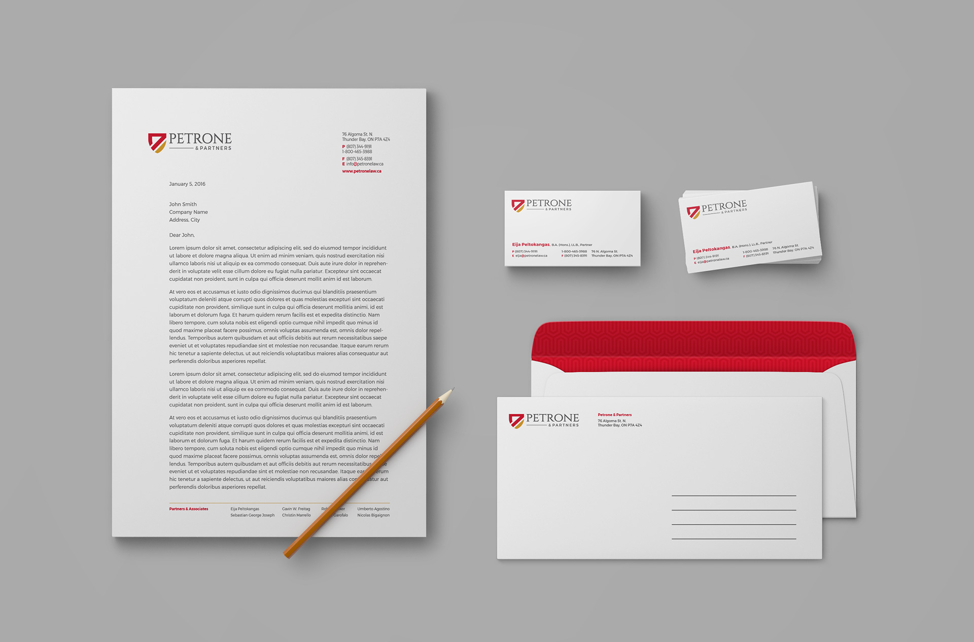 Petrone & Partners Stationery